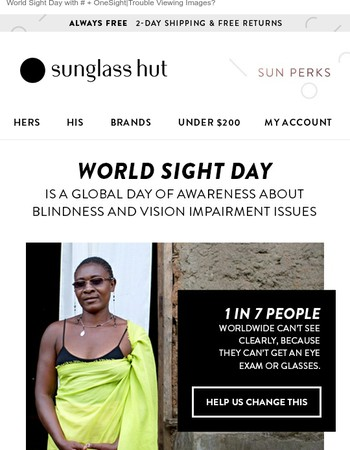 World Sight Day + Hurricane Harvey Relief