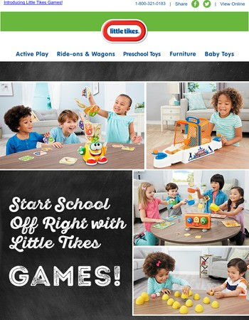 Start the School Year Off Right with Little Tikes Games!