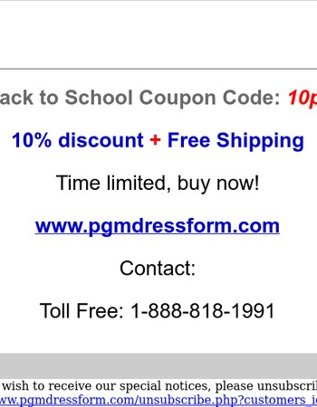10% discount plus free shipping