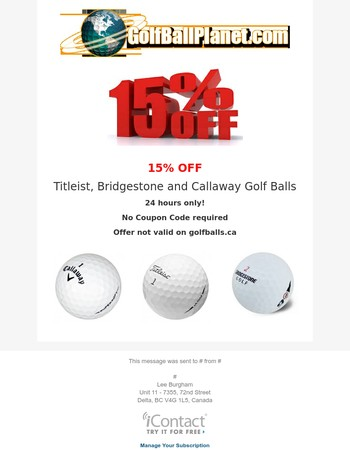 Lostgolfballs com discount coupon