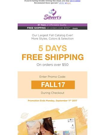 Free Shipping - 5 Days