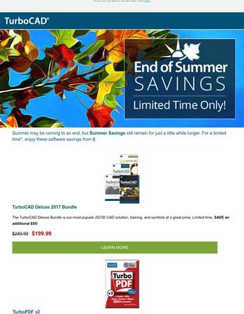 End of Summer Software Savings