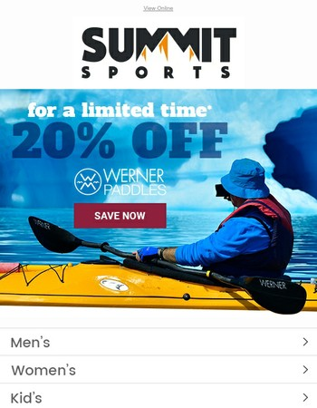 Limited Time Offer | 20% OFF Werner Paddles