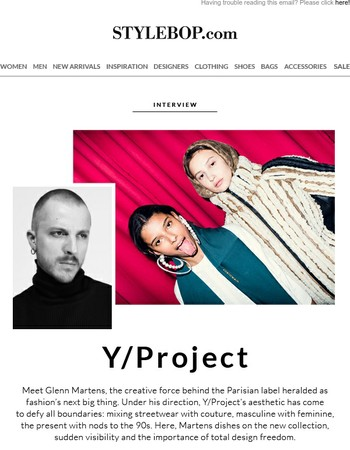 Interview: Y/Project's Glenn Martens | Men's Knits For Now | Free Shipping
