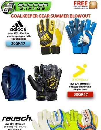 SOCCER FLASH SALE | 30% Off Goalkeeper Gear | SOCCERGARAGE.com