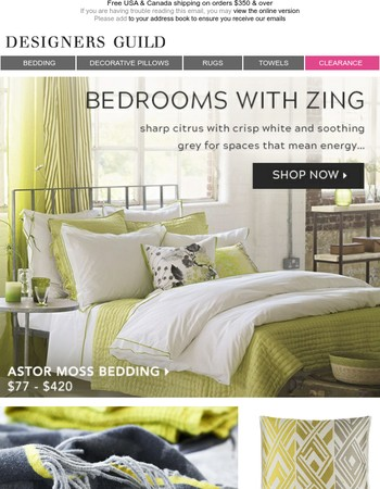 Bedrooms With Zing |Discover Our Best Selling Astor Bedding