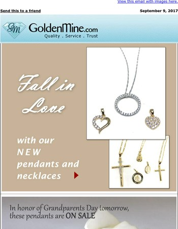 Fall in Love with New Jewelry + Grandma Pendants ON SALE