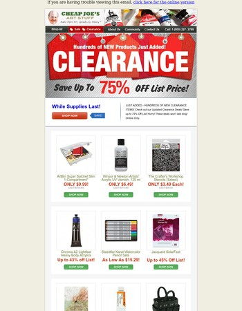 They're disappearing fast! Shop Clearance Now!