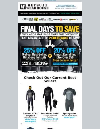 Ending Sunday! 20-25% Off Regular Prices