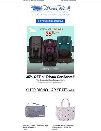 35% off Diono Car Seats