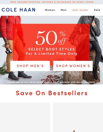 Best of Black Friday Boots: 50% Off