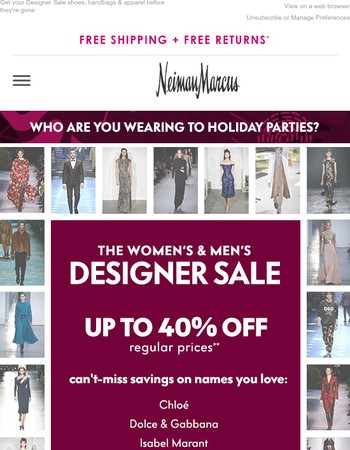 Up to 40% off Chloe, Dolce & Gabbana, Valentino & more designers you love