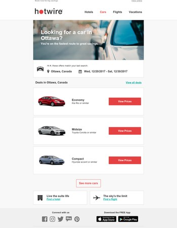 🚨 DEAL ALERT: Car rentals in Ottawa, Canada at a great price