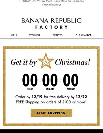 : LAST CALL TO SHOP ONLINE � 🌲 & FREE SHIPPING BY CHRISTMAS